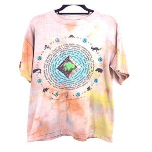 Vintage 1990 earth day t shirt tie dye size large